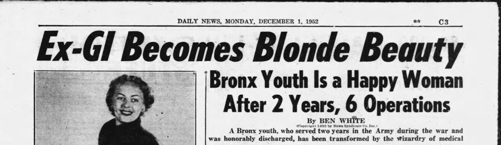Ex-GI Becomes Blonde Beauty Bronx Youth is a Happy Woman After 2 Years, 6 Operations